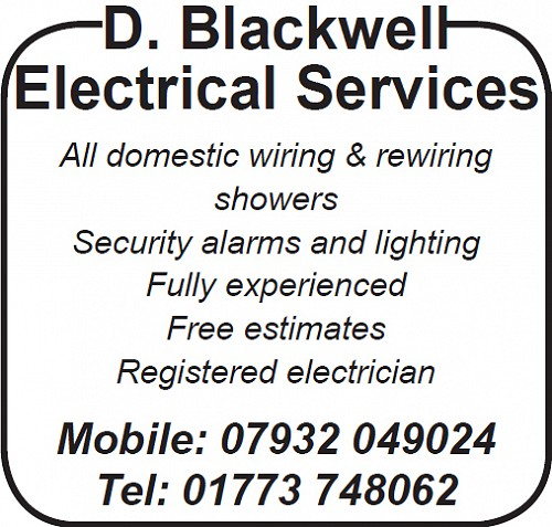 Advert for D Blackwell Electrical Services
