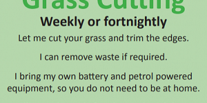 Advert for Earthcare Grass Cutting. Call 01773 404040