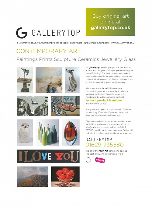Gallery Top - Contemporary Art, Painting, Prints, Ceramics, Jewellery, Glass