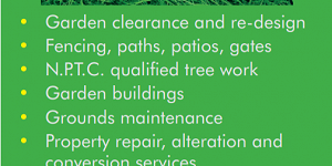 Advert for S&D Landscape and Property Services