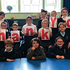 The pupils say thanks! at Crich Junior School
