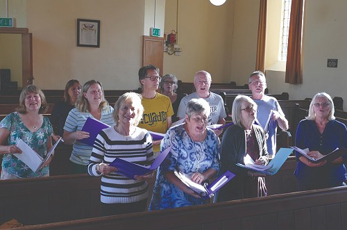 people singing in Fritchley Community Choir