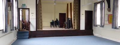 Interior of Fritchley Village Hall