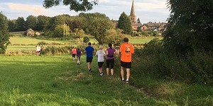 people jogging through Crich Parish