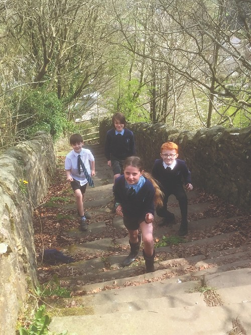 Crich Junior Children ready to walk