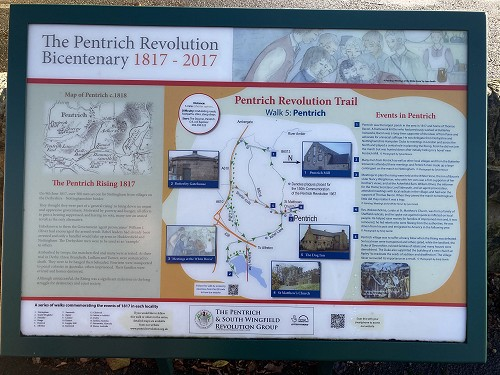 Map and information about the Pentrich Revolution