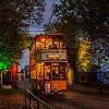 Illuminations for Half Term at Crich Tramway Village