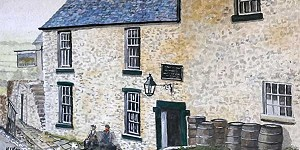 The Greyhound Inn painting by Herbert Keys