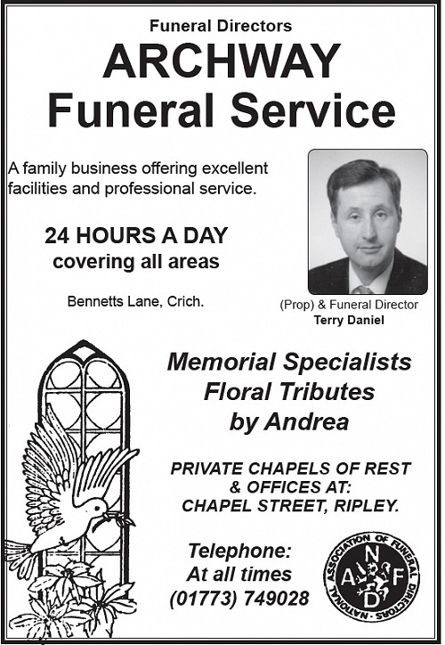 Advert for Archway Funeral Service