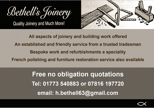 Advert for Bethell's Joinery