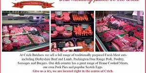 Advert for Crich Butchers. Call 01773 852623