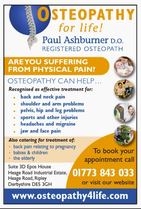 Advert for Osteopathy for Life