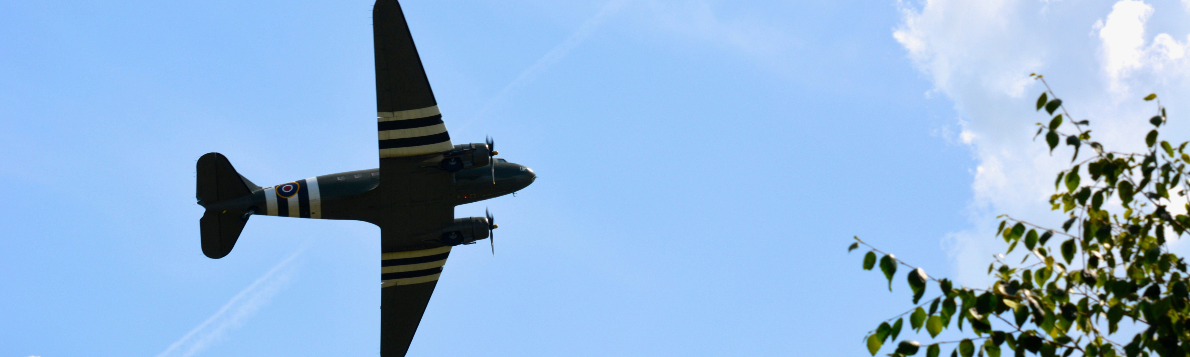 Old Aircraft over Crich Village Fete
