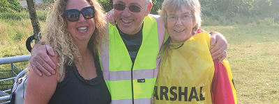 volunteers at Crich Fun Run