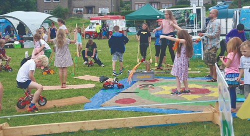 Circus skills at the fete
