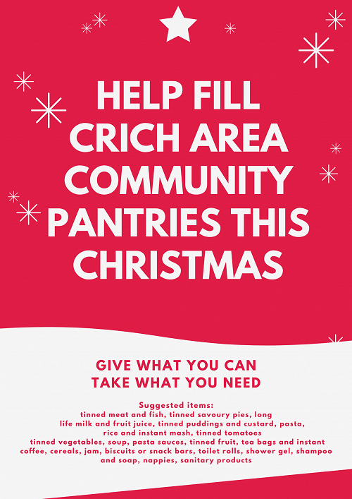 Poster Help Fill Crich Area Community Pantries this Christmas