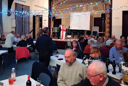People in Fritchley Village Hall
